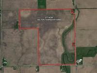 277 Ac Wilton Township Farm : Wilmington : Will County : Illinois