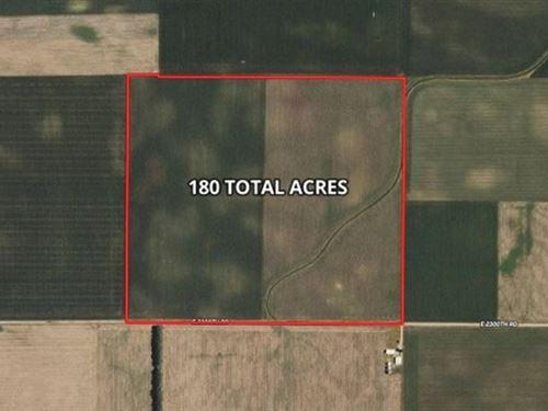 180 Ac Edgar Co, Farm : Chrisman : Edgar County : Illinois