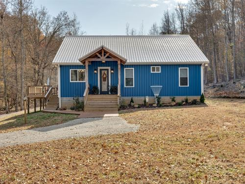 Cottage Home Situated 3 Acres : Hohenwald : Lewis County : Tennessee