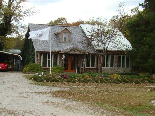 Log And Stone Home on 16Ac With ba : Mountain View : Howell County : Missouri