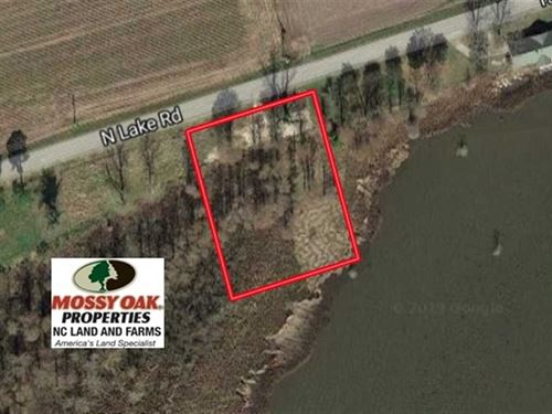 1 Acre Lake Front Lot For Sale : Fairfield : Hyde County : North Carolina