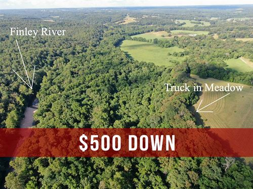 $500 Down 15 Acres on River in MO : Fordland : Webster County : Missouri