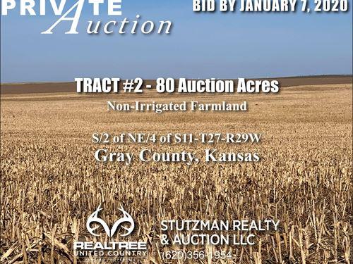 Gray County Ks, TR 2, 80 Acres : Ingalls : Gray County : Kansas
