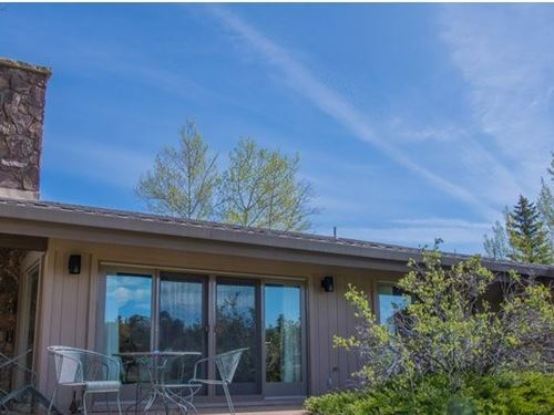 Furnished Lake View Ranch Fox Acres : Red Feather Lakes : Larimer County : Colorado