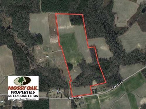 Under Contract, 36 Acres of Farm : Macclesfield : Edgecombe County : North Carolina