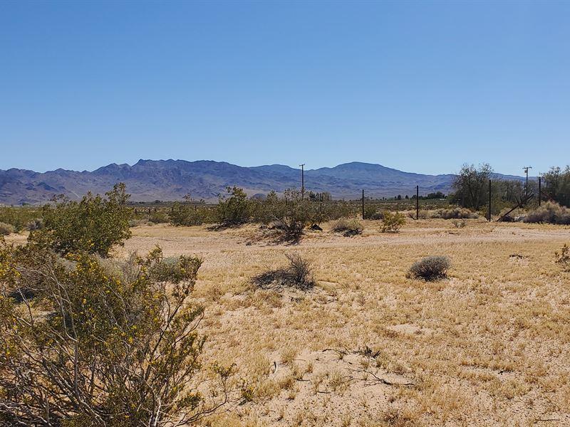 Prime Ag/Res Land, Power, $289/Mo : Newberry Springs : San Bernardino County : California