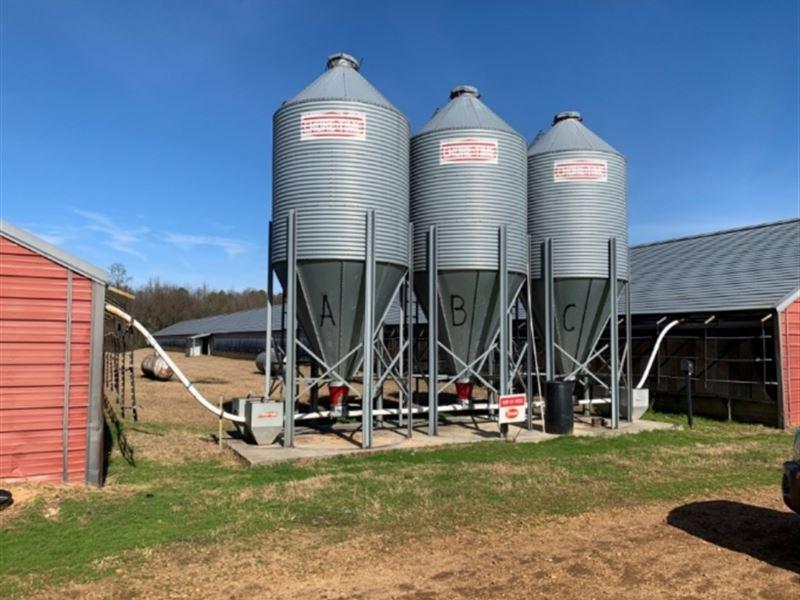 47 Acre 6 House Broiler Farm In Nes : Philadelphia : Neshoba County : Mississippi