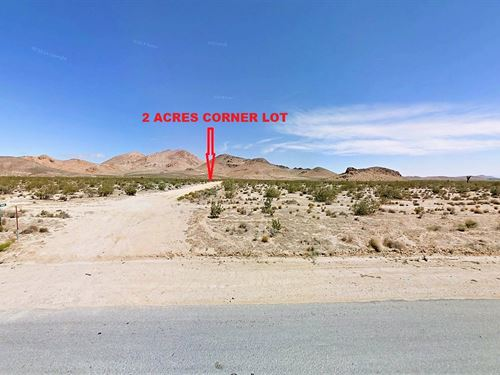 Corner Lot, Great Access, $225/M : Rosamond : Kern County : California