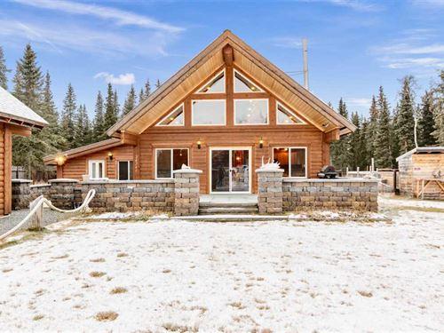 Soldotna Log Home On.92 Acres : Soldotna : Kenai Peninsula Borough : Alaska