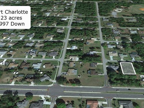 .23 Acre Lot Minutes to I-75 : Port Charlotte : Charlotte County : Florida