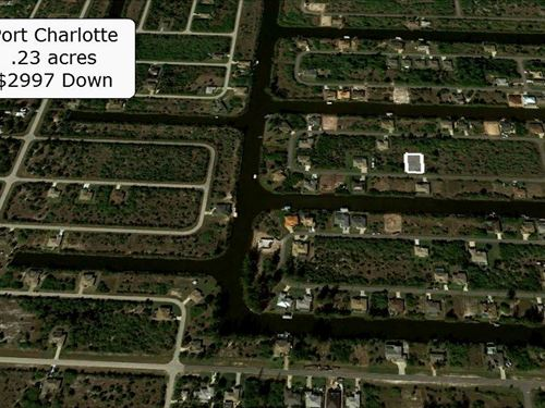 Partially Cleared .23 Acre Property : Port Charlotte : Charlotte County : Florida