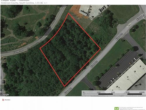 Commercial Lot Located Off SC 153 : Piedmont : Anderson County : South Carolina