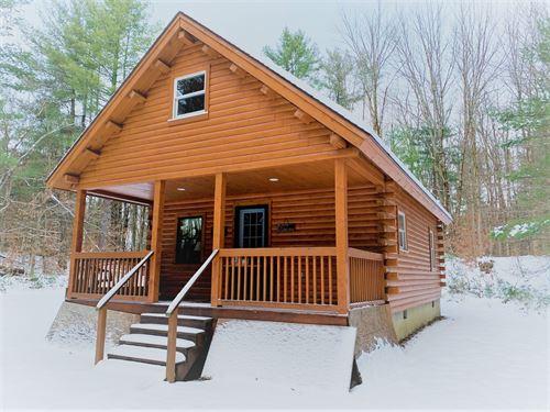Custom Built Log Home Near Pulaski : Williamstown : Oswego County : New York