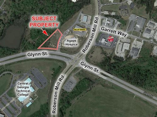 Corner Lot For Sale : Milledgeville : Baldwin County : Georgia