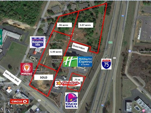 Prime Commercial Lots in Perry, GA : Perry : Houston County : Georgia