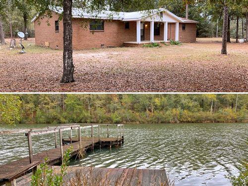 Lake Home 5 Acres Geneva Alabama : Geneva : Alabama