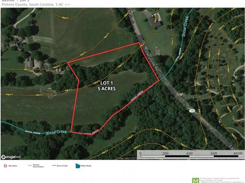 5 Acres With 475 &Trade : Easley : Pickens County : South Carolina