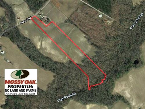 18.78 Acres of Farm And Cut Timber : Dover : Craven County : North Carolina