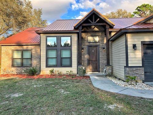 Custom Built 4Br/3Ba Home, Acreage : Trenton : Levy County : Florida