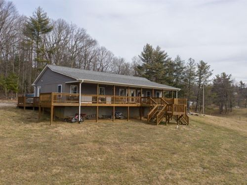 Beautiful Country Home Acreage : Check : Floyd County : Virginia