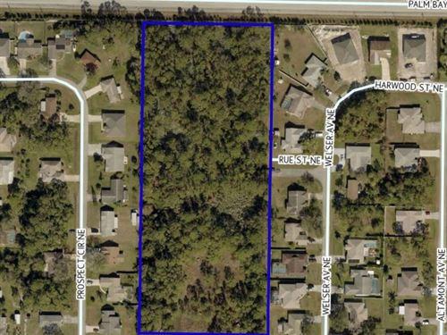 6.18 Acres Residential/Neighborhood : Palm Bay : Brevard County : Florida
