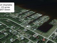 Partially Cleared .23 Acre Lot : Port Charlotte : Charlotte County : Florida