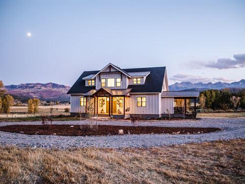 Dallas Creek Mountain Farmhouse : Montrose : Ouray County : Colorado