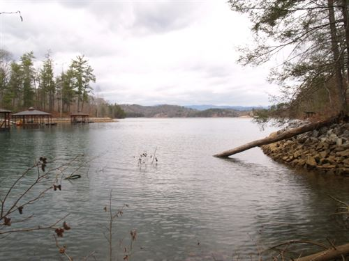 Large Waterfront Lot On Lake Keowee : Sunset : Pickens County : South Carolina