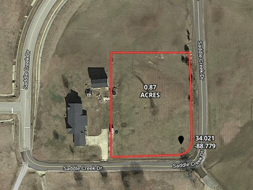 .87 Acre Lot In Lee County In Saddl : Tupelo : Lee County : Mississippi