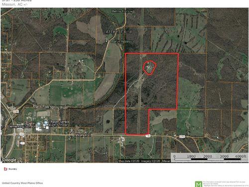 Amazing 230 Acres Thayer MO Heart : Thayer : Oregon County : Missouri