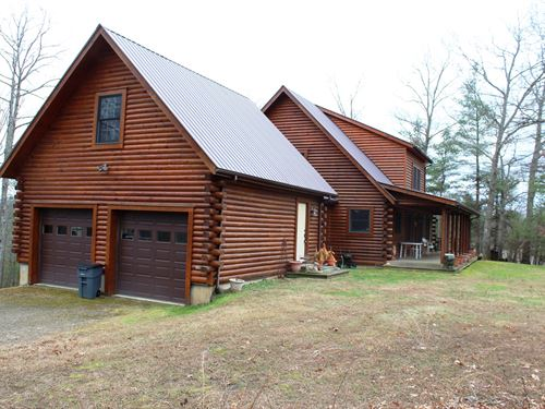 Beautiful Log Home Carroll County : Laurel Fork : Carroll County : Virginia