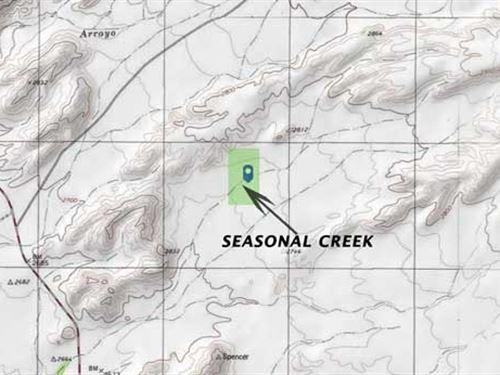 Seasonal Creek, Border Town : Presidio : Texas