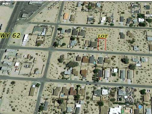 City Lot 29 Palms Power, Water : Twenty Nine Palms : San Bernardino County : California
