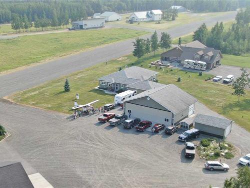 3 Bdrm Home + Hangar And 2400' Run : Sterling : Kenai Peninsula Borough : Alaska