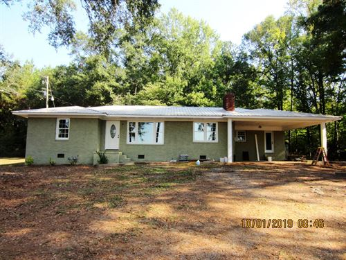 Home With 10 Acres & Pond : Ashland : Clay County : Alabama