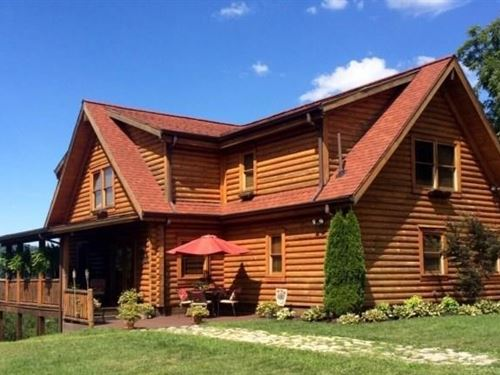 Log Home Mountain Retreat Acreage : Richlands : Tazewell County : Virginia