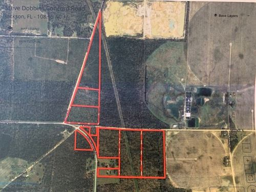 Land For Sale In Jackson County, FL : Bascom : Jackson County : Florida