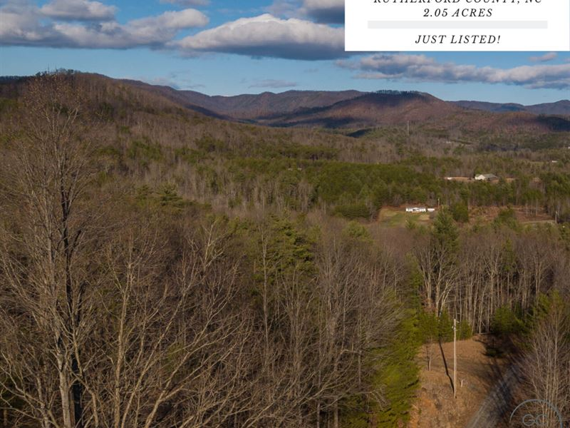 2.05 Acres In Rutherford County, NC : Bostic : Rutherford County : North Carolina