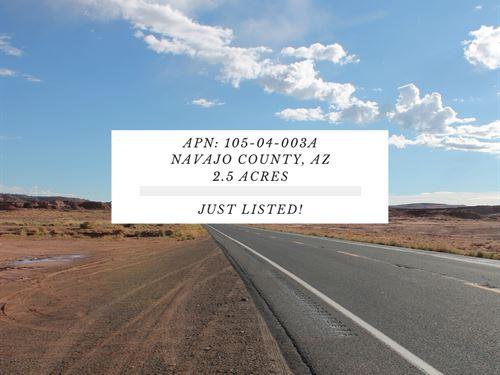2.5 Acres In Navajo County, Arizona : Holbrook : Navajo County : Arizona