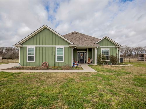 Country Home on 1.47 Acres : North Zulch : Madison County : Texas