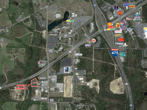Light Industrial Land For Sale : Macon : Bibb County : Georgia