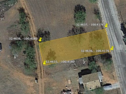 Cheap Home Lot, 0.15 Acres For Sale : Sweetwater : Nolan County : Texas