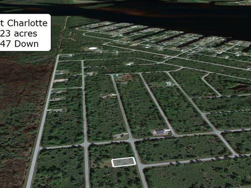 Pristine .23 Acre Lot on Paved Road : Port Charlotte : Charlotte County : Florida