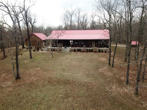 45.77 Surveyed Acres & 1740 Sq, Ft : Mountain Home : Baxter County : Arkansas