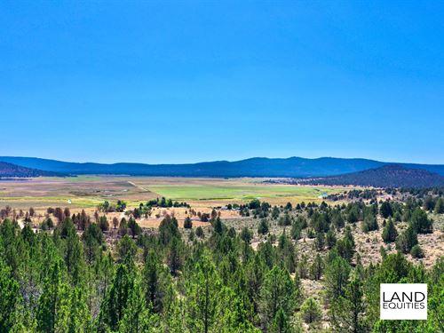 Private Location With Amazing Views : Sprague River : Klamath County : Oregon