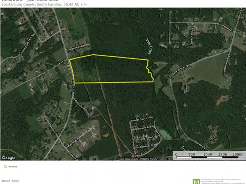 30.48, Acres, Great Development : Wellford : Spartanburg County : South Carolina