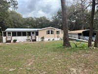 3/2 Triple Wide Mobile Home Fanning : Fanning Springs : Levy County : Florida