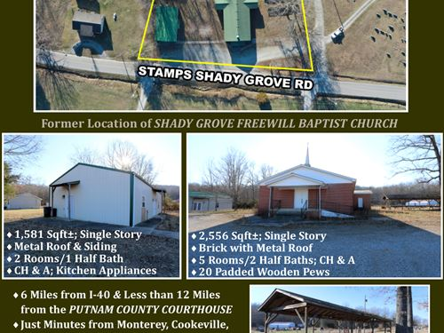 2 Buildings on Unrestricted Lot : Monterey : Putnam County : Tennessee