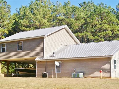 Custom Built Home, Shop & 14.72 : Liberty : Amite County : Mississippi