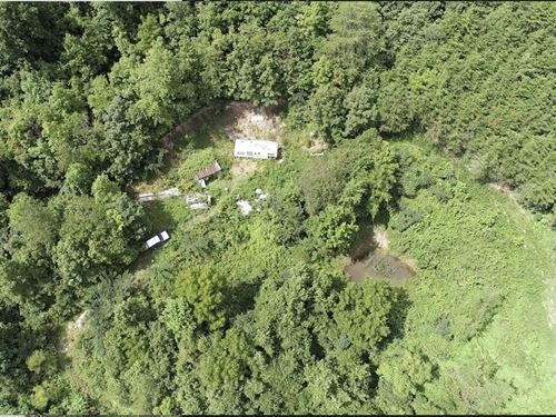Land With RV and Small Pond : Washburn : Claiborne County : Tennessee